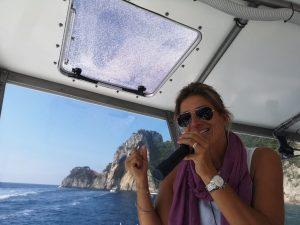 Capri vizein hajòzunk